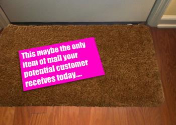 dirct mail doormat