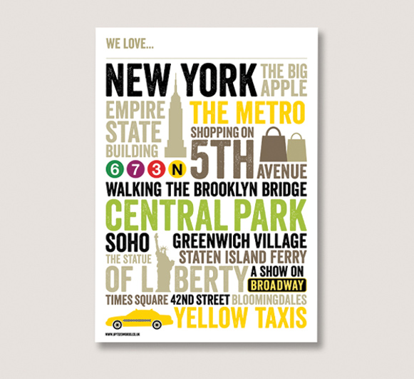 new york personalised poster