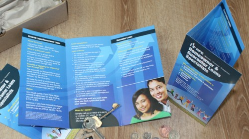 A4 tri-fold leaflet or 6pp DL