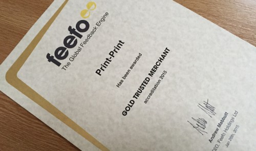 Feefo Gold Trusted Merchant 2015