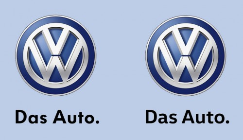 VW altered typeface