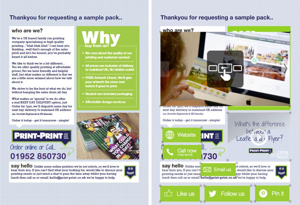 Interactive print program
