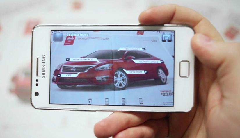 Nissan interactive print