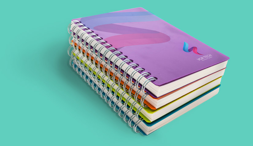 printed notebooks or notepads