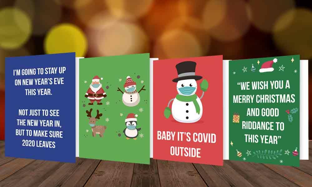 Covid Christmas Card Designs